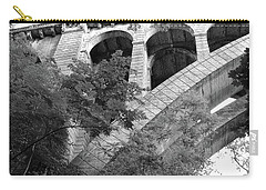 Carry-all Pouch featuring the photograph Under The Henry Avenue Brudge by Bill Cannon