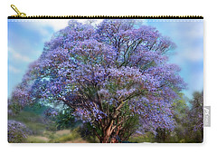Under The Jacaranda Carry-all Pouch by Carol Cavalaris