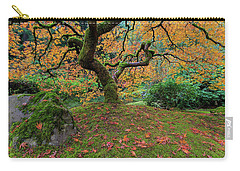 Under The Japanese Mape Tree In Fall Season Carry-all Pouch