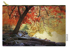 Carry-all Pouch featuring the photograph Under The Maple by Jessica Jenney