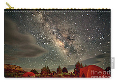 Carry-all Pouch featuring the photograph Under The Milky Way by Anne Rodkin