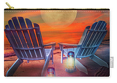 Carry-all Pouch featuring the photograph Under The Moon by Debra and Dave Vanderlaan