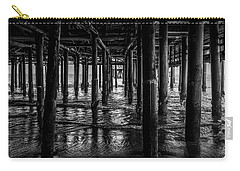 Under The Pier - Black And White Carry-all Pouch