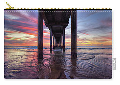 Under The Pier Sunset Carry-all Pouch