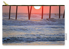 Under The Pier - Sunset Carry-all Pouch by Shelia Kempf