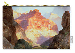 Under The Red Wall Carry-all Pouch by Thomas Moran