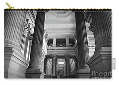 Carry-all Pouch featuring the photograph Under The Scaffolding Of The Palace Of Justice - Brussels by RicardMN Photography