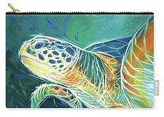 Carry-all Pouch featuring the painting Under The Sea by Angela Treat Lyon