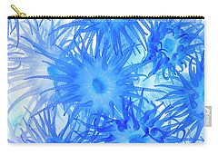 Carry-all Pouch featuring the photograph Under The Sea Colorful Watercolor Art #14 by Debra and Dave Vanderlaan