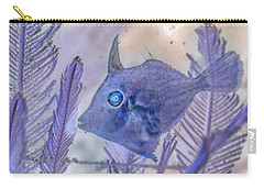 Carry-all Pouch featuring the photograph Under The Sea Colorful Watercolor Art #8 by Debra and Dave Vanderlaan