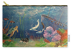 Under The Sea Carry-all Pouch by Denise Tomasura
