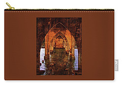Carry-all Pouch featuring the photograph Under The Siuslaw River Bridge by Thom Zehrfeld