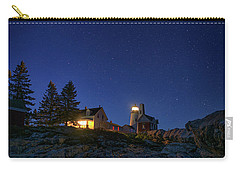 Under The Stars At Pemaquid Point Carry-all Pouch by Rick Berk
