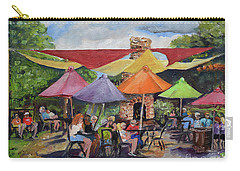 Under The Umbrellas At The Cartecay Vineyard - Crush Festival  Carry-all Pouch by Jan Dappen