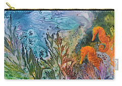 Undersea Garden Carry-all Pouch by Nancy Jolley