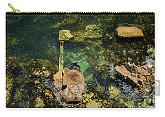 Carry-all Pouch featuring the photograph Underwater Art At Cannery Row by Susan Wiedmann