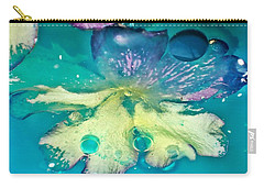 Underwater Flower Abstract 10 Carry-all Pouch by Lorella Schoales