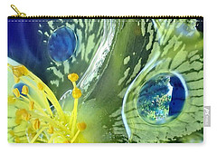 Underwater Flower Abstraction 1 Carry-all Pouch by Lorella Schoales