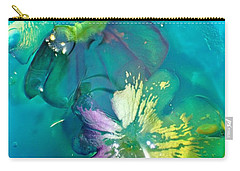 Underwater Flower Abstraction 3 Carry-all Pouch by Lorella Schoales