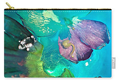 Underwater Flower Abstraction 4 Carry-all Pouch by Lorella Schoales