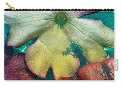 Underwater Flower Abstraction 5 Carry-all Pouch by Lorella Schoales