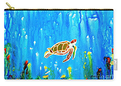 Underwater Magic 5-happy Turtle Carry-all Pouch