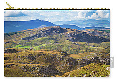 Carry-all Pouch featuring the photograph Undulating Landscape In Kerry In Ireland by Semmick Photo
