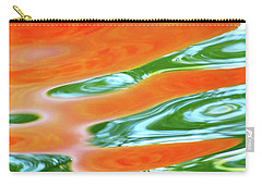 Undulating Orange Green Carry-all Pouch