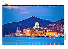 Unesco Town Of Sibenik Blue Hour View Carry-all Pouch