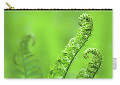 Unfurling Fern Fronds Carry-all Pouch
