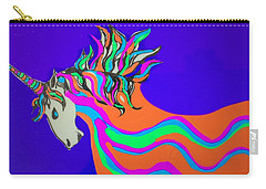 Unicorn For Candy Carry-all Pouch by Erika Chamberlin