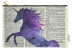 Unicorn In Space Carry-all Pouch by Jacob Kuch