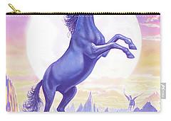 Unicorn Moon Ravens Carry-all Pouch by Steve Crisp