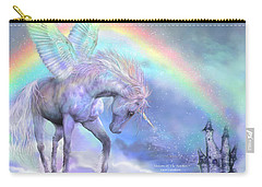 Unicorn Of The Rainbow Carry-all Pouch by Carol Cavalaris