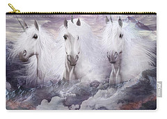 Unicorns Of The Mountains Carry-all Pouch