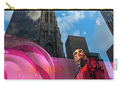 Carry-all Pouch featuring the photograph Unimpressed In New York by Alex Lapidus