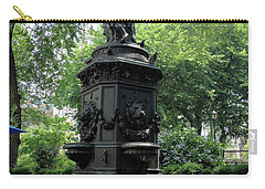 Carry-all Pouch featuring the photograph Union Square Park Water Fountain by Iowan Stone-Flowers