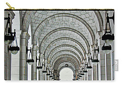 Carry-all Pouch featuring the photograph Union Station Exterior Archway by Suzanne Stout