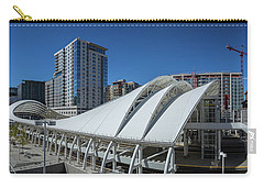Carry-all Pouch featuring the photograph Union Station Open Air Train Hall by Tim Stanley