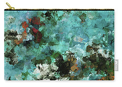 Carry-all Pouch featuring the painting Unique Abstract Art / Landscape Painting by Ayse Deniz