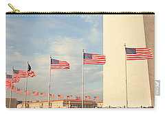 United States Flags At The Base Carry-all Pouch by Panoramic Images