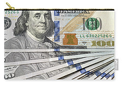United States Usd 100 Note Closeup Carry-all Pouch