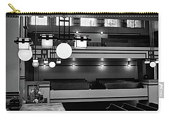 Unity Temple Interior Black And White Carry-all Pouch