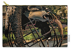Carry-all Pouch featuring the photograph University Of Florida Sculpture by Joan Carroll