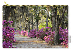 Unpaved Road With Azaleas And Oaks Carry-all Pouch