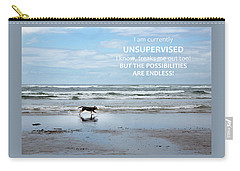 Carry-all Pouch featuring the photograph Unsupervised by Rebecca Cozart