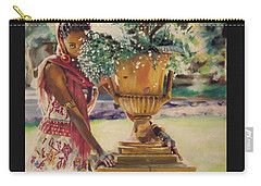 Carry-all Pouch featuring the painting Untitled by Baroquen Krafts