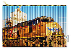 Carry-all Pouch featuring the photograph Up 5915 At Track Speed by Bill Kesler