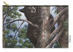 Carry-all Pouch featuring the painting Up A Tree by Kim Lockman