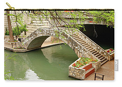 Carry-all Pouch featuring the photograph Up And Over - San Antonio River Walk by Art Block Collections